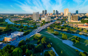 aerial view of fort worth texas